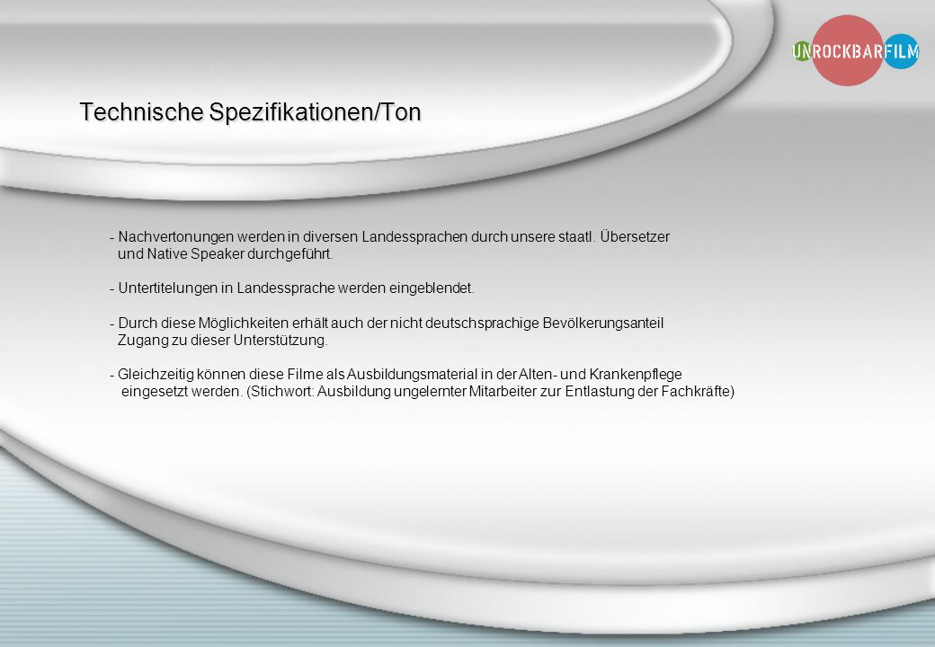 Technische Spezifikationen/Ton