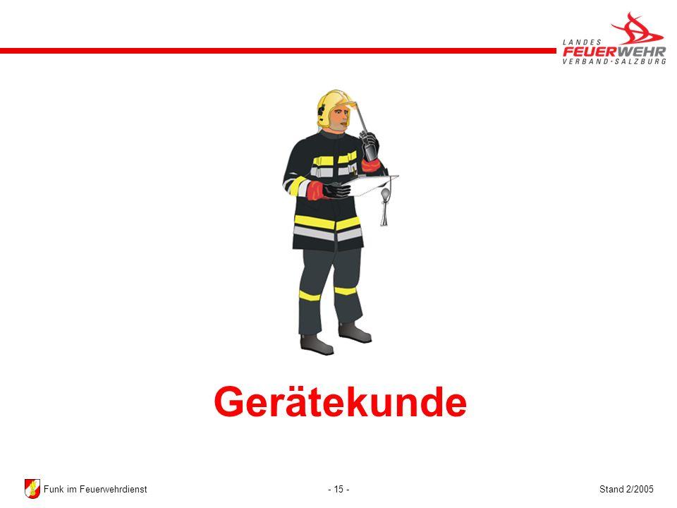 Gerätekunde Funk im Feuerwehrdienst Stand 2/2005