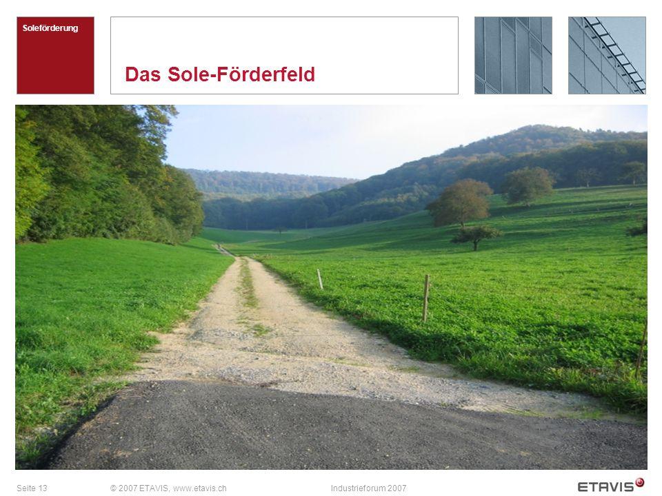 Das Sole-Förderfeld Soleförderung © 2007 ETAVIS, www.etavis.ch