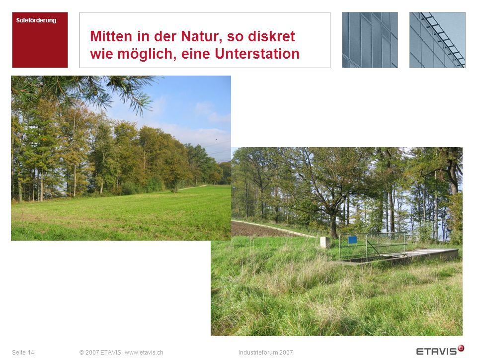 Mitten in der Natur, so diskret wie möglich, eine Unterstation
