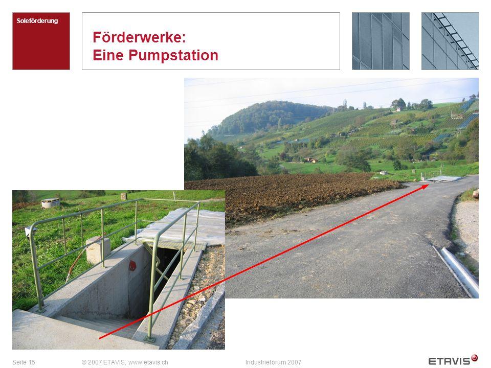 Förderwerke: Eine Pumpstation