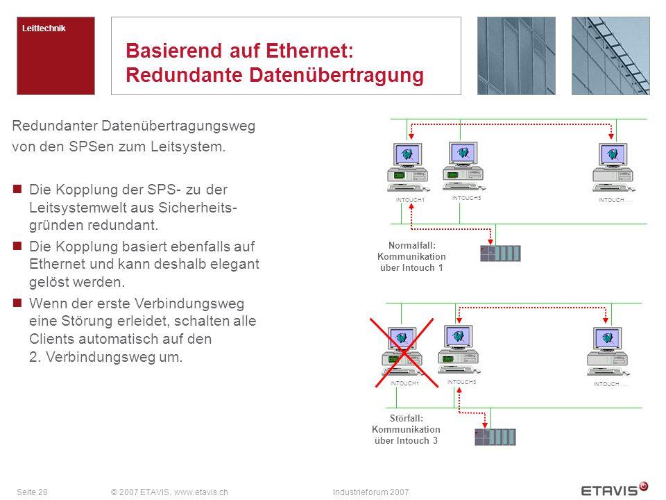 Basierend auf Ethernet: Redundante Datenübertragung