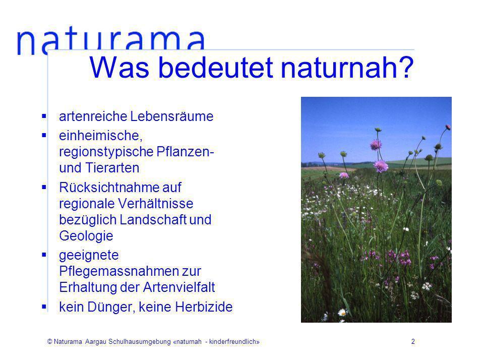 Was bedeutet naturnah artenreiche Lebensräume