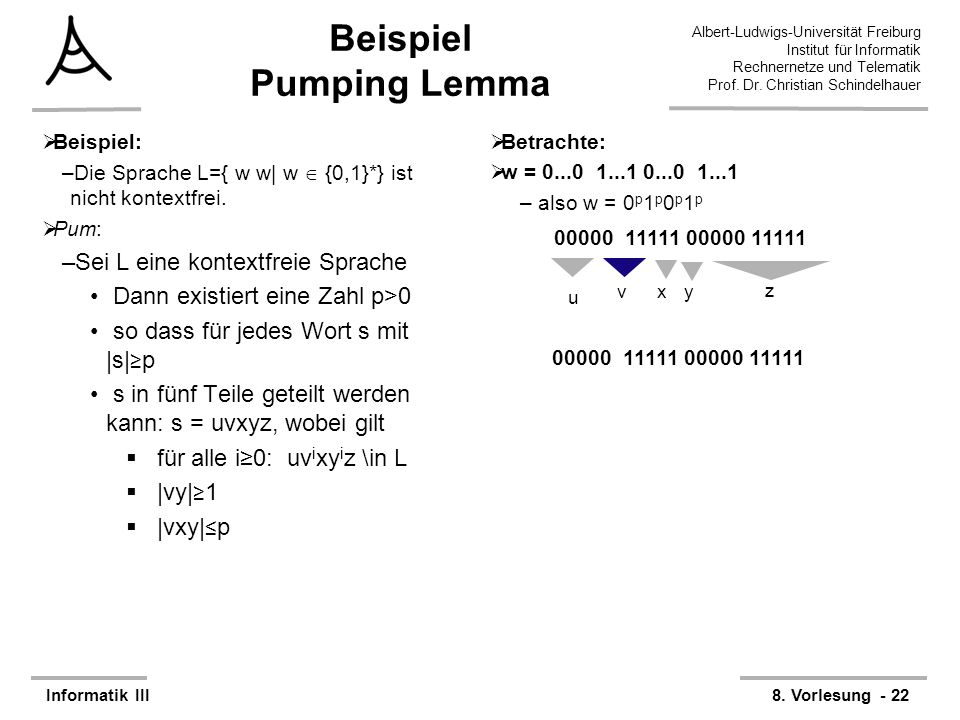 Beispiel Pumping Lemma