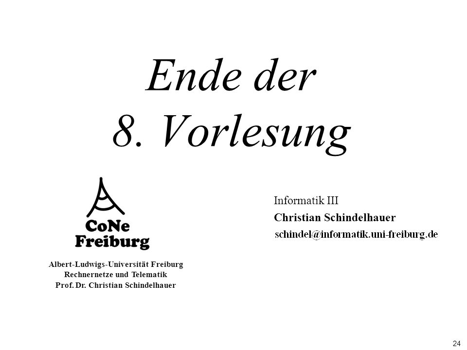 Informatik III Christian Schindelhauer