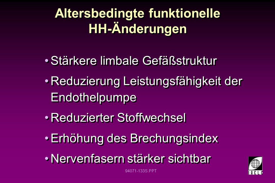 Altersbedingte funktionelle HH-Änderungen