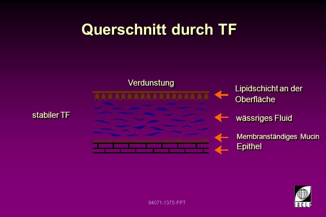 Querschnitt durch TF Verdunstung Lipidschicht an der Oberfläche