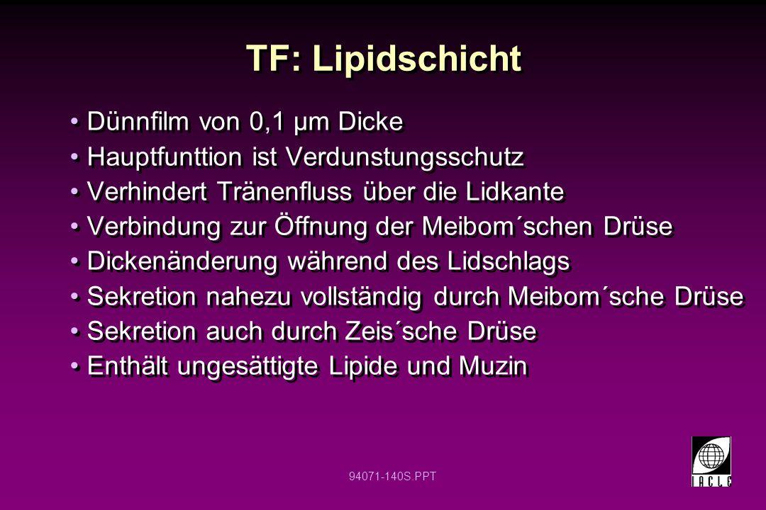 TF: Lipidschicht Dünnfilm von 0,1 µm Dicke
