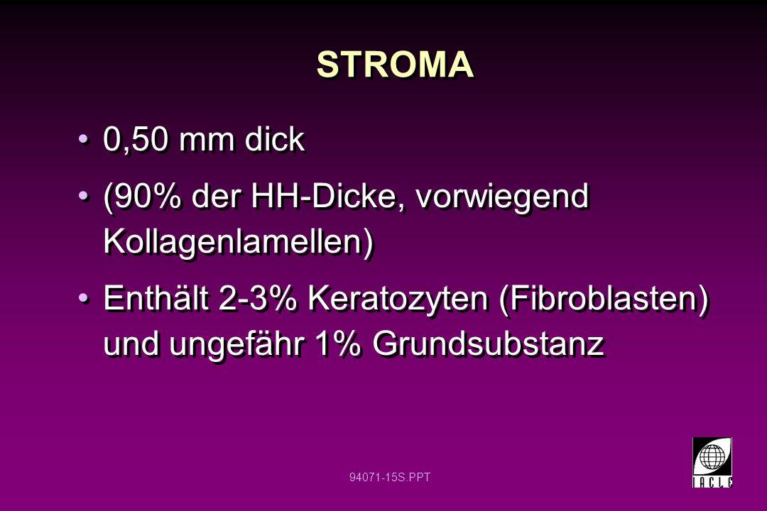 STROMA 0,50 mm dick (90% der HH-Dicke, vorwiegend Kollagenlamellen)