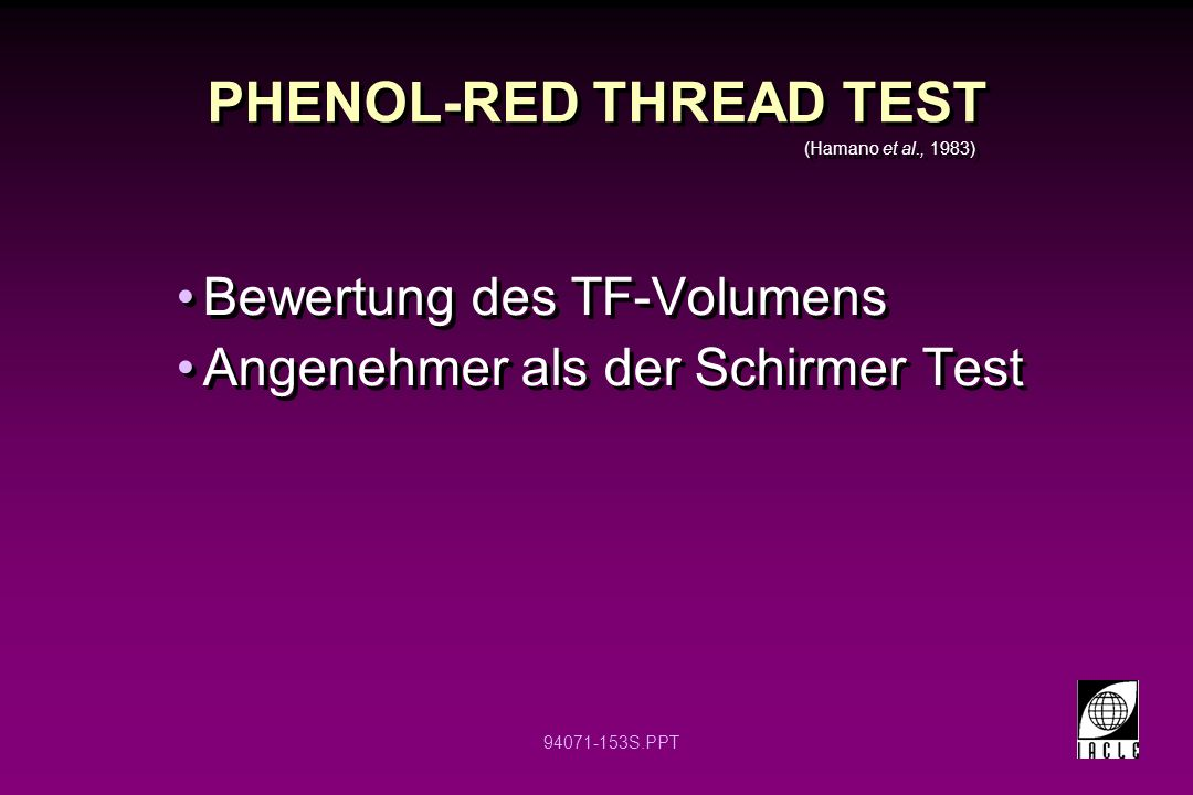 PHENOL-RED THREAD TEST