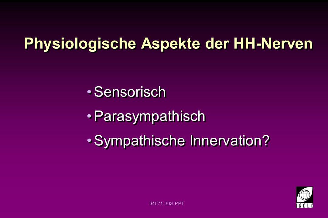 Physiologische Aspekte der HH-Nerven
