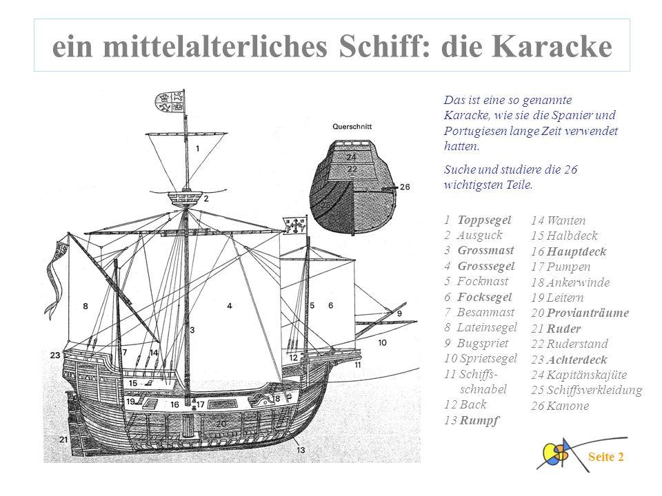 ein mittelalterliches Schiff: die Karacke