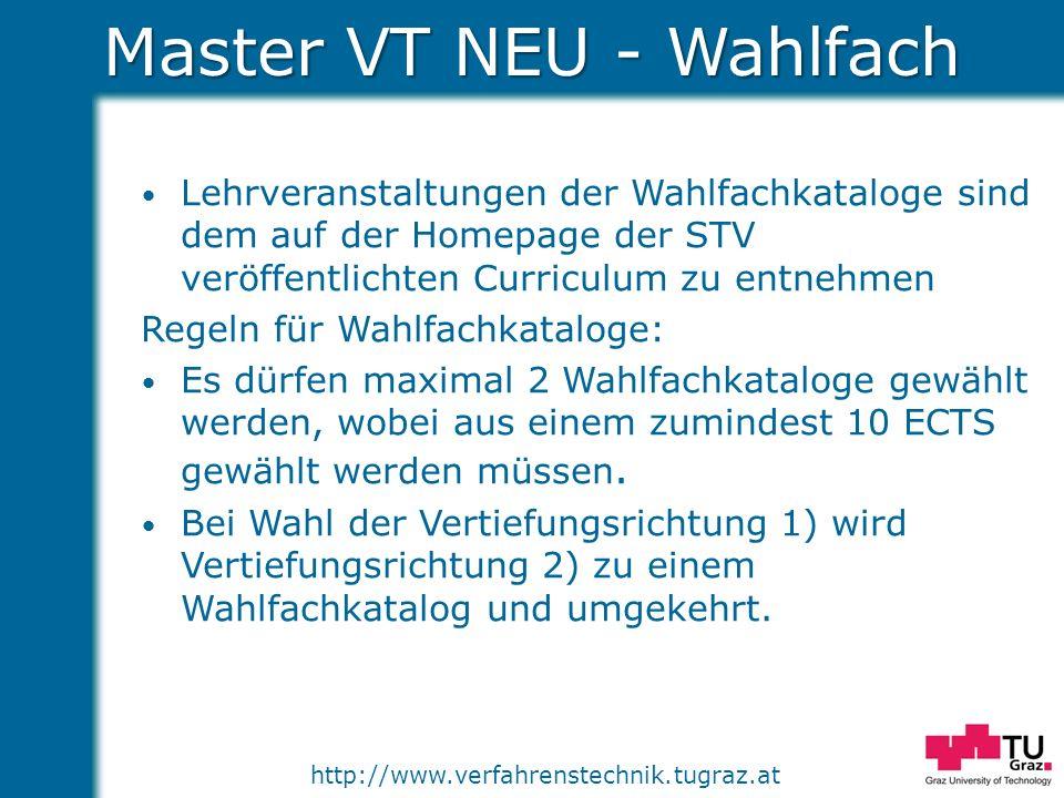 Master VT NEU - Wahlfach