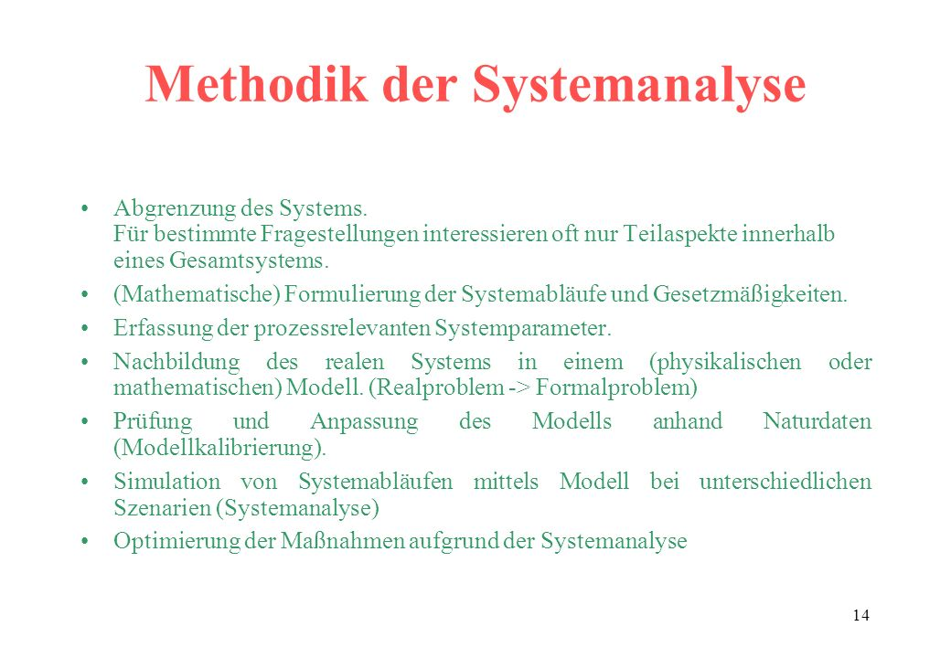 Methodik der Systemanalyse