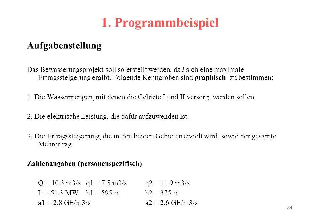 1. Programmbeispiel Aufgabenstellung