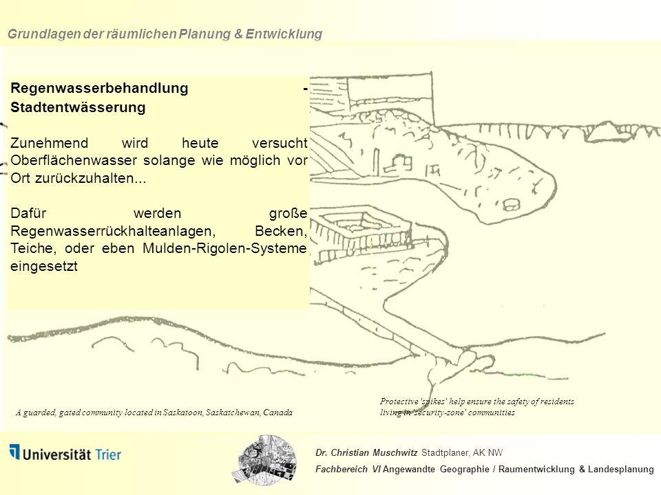 Regenwasserbehandlung - Stadtentwässerung