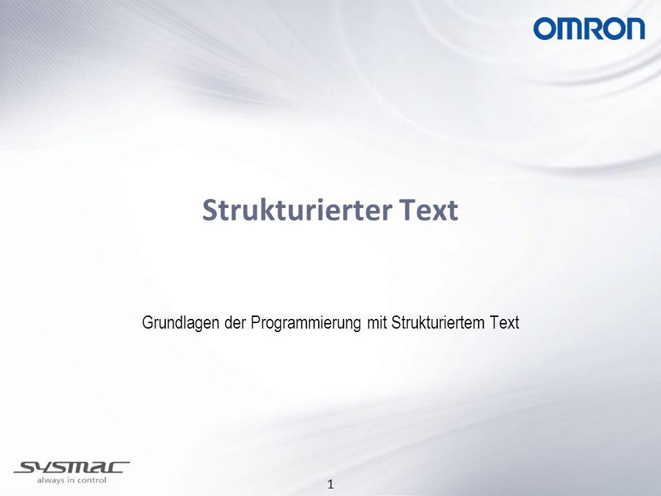 Grundlagen der Programmierung mit Strukturiertem Text