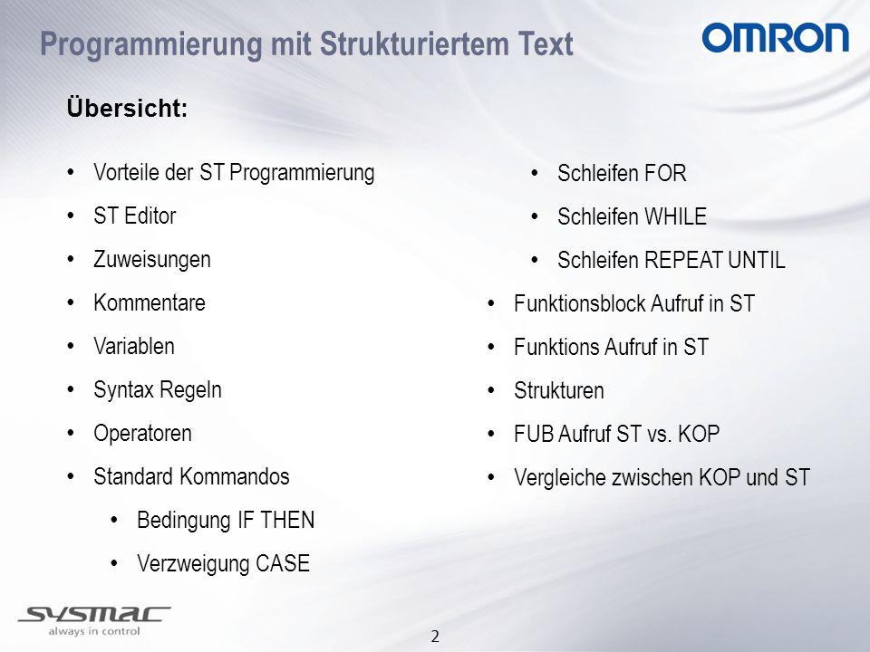Programmierung mit Strukturiertem Text