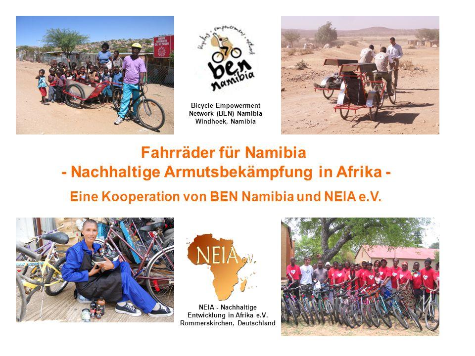 Fahrräder für Namibia - Nachhaltige Armutsbekämpfung in Afrika -