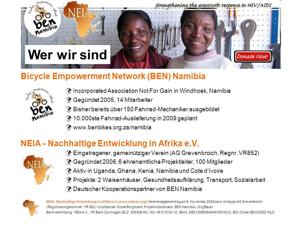 Wer wir sind Bicycle Empowerment Network (BEN) Namibia