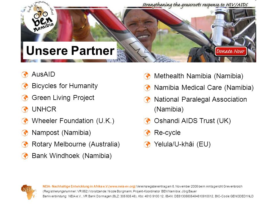 Unsere Partner AusAID Methealth Namibia (Namibia)