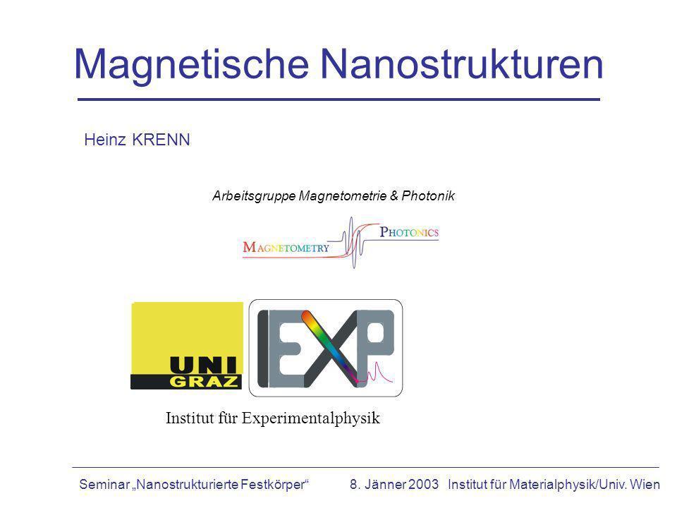 Magnetische Nanostrukturen