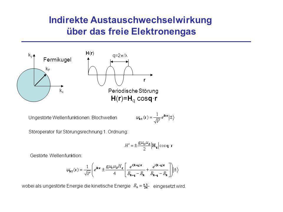 Indirekte Austauschwechselwirkung über das freie Elektronengas