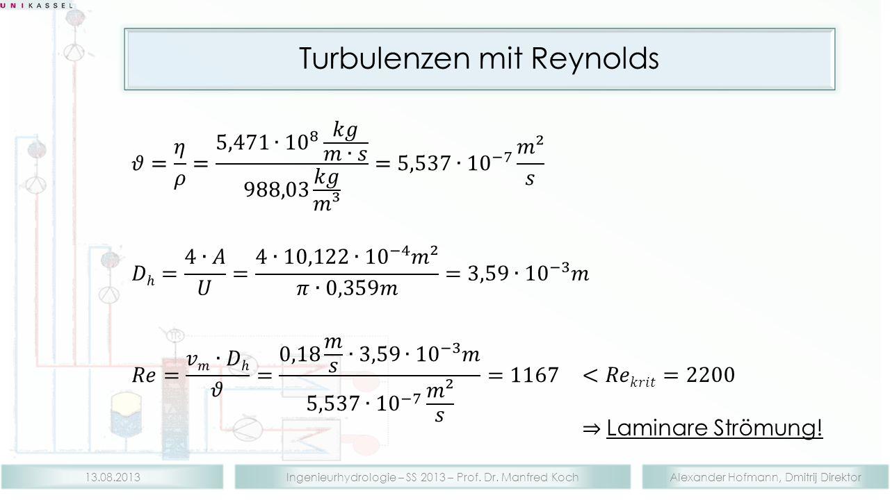Turbulenzen mit Reynolds