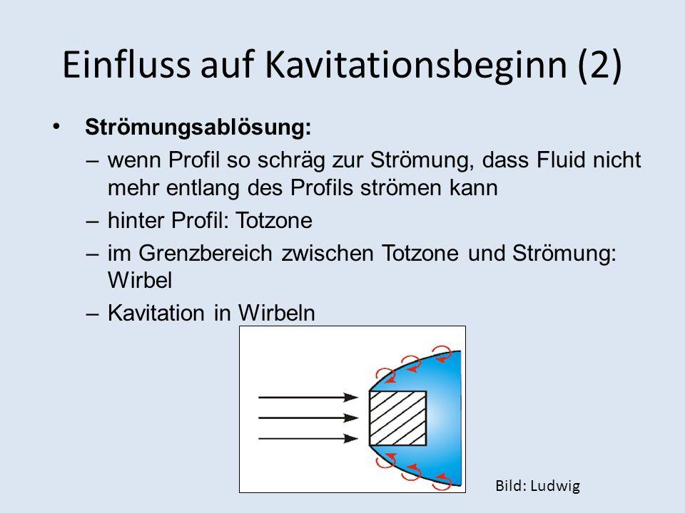 Einfluss auf Kavitationsbeginn (2)