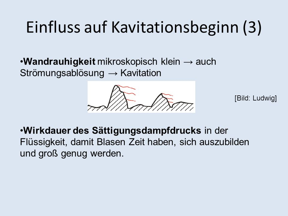 Einfluss auf Kavitationsbeginn (3)