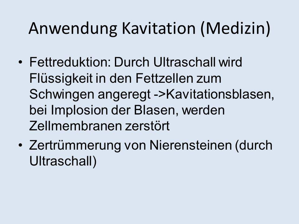 Anwendung Kavitation (Medizin)