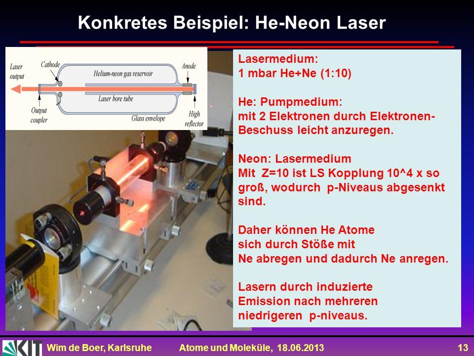 Konkretes Beispiel: He-Neon Laser