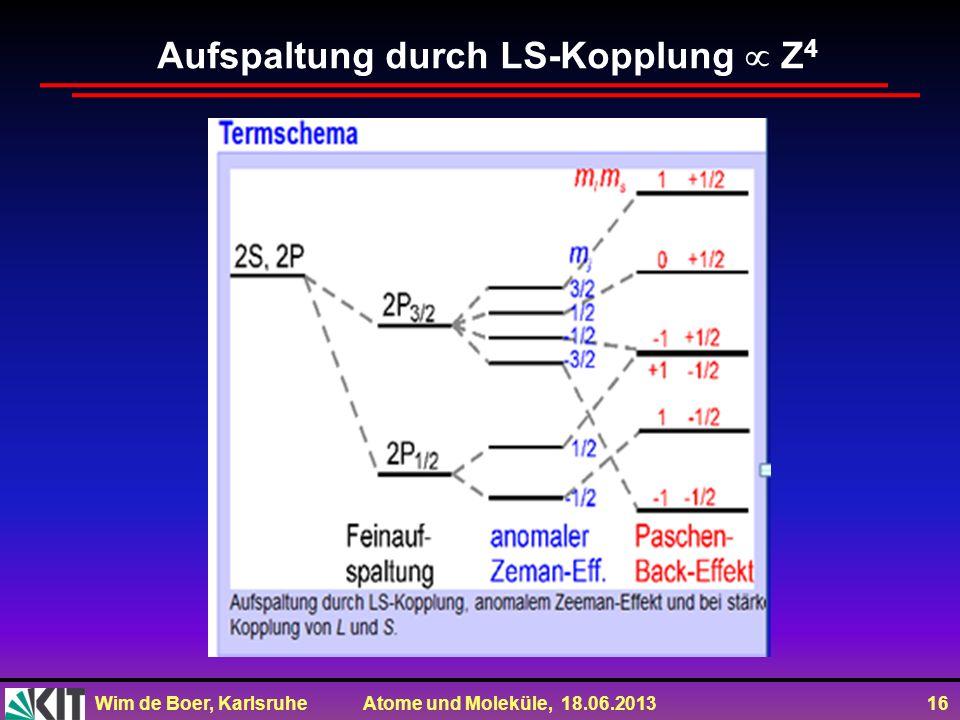 Aufspaltung durch LS-Kopplung  Z4