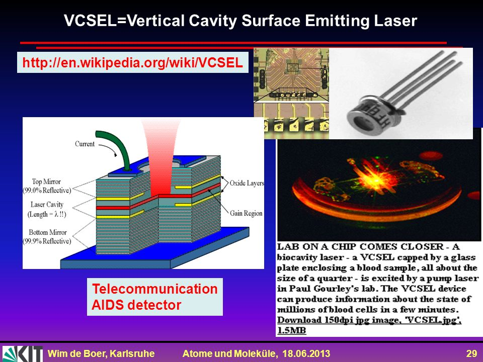 VCSEL=Vertical Cavity Surface Emitting Laser