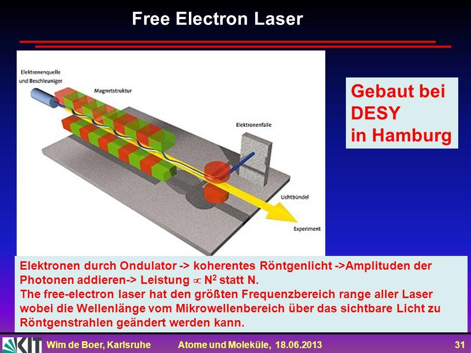 Free Electron Laser Gebaut bei DESY in Hamburg