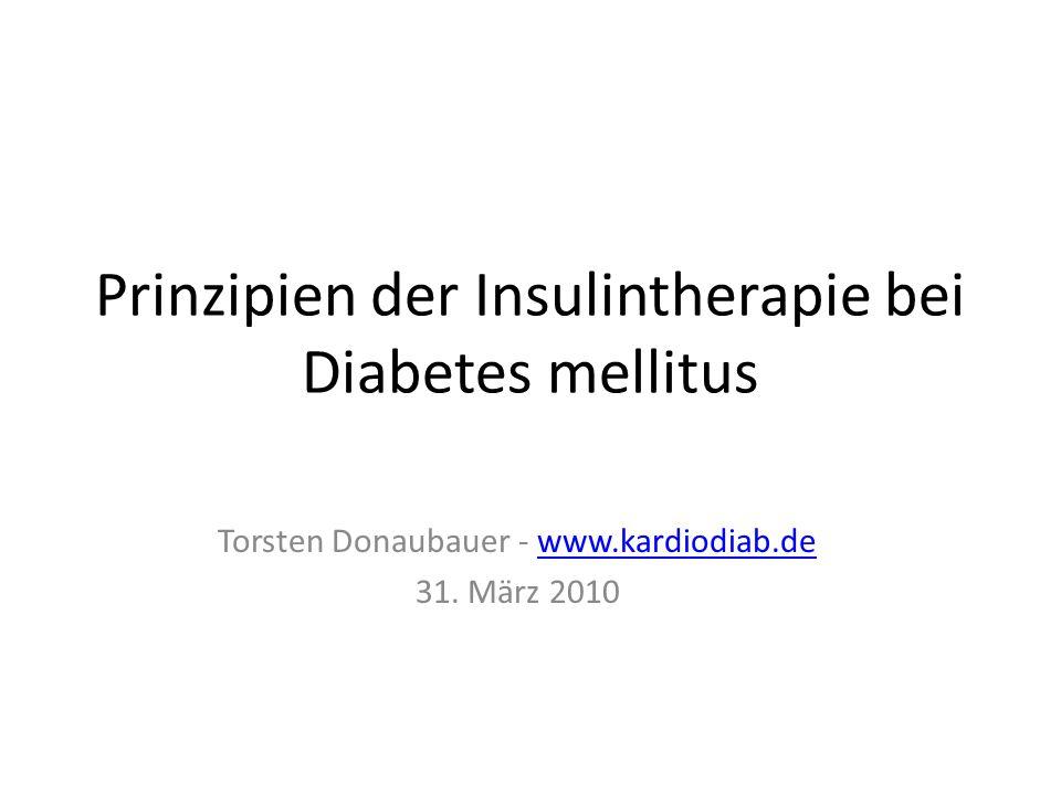 Prinzipien der Insulintherapie bei Diabetes mellitus