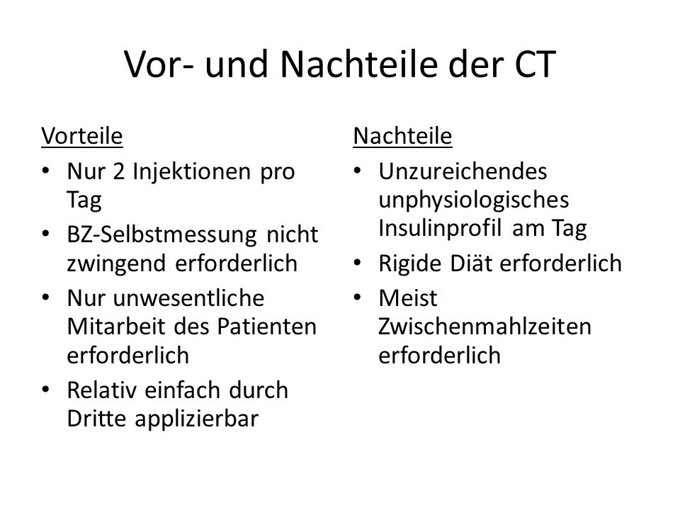 Vor- und Nachteile der CT
