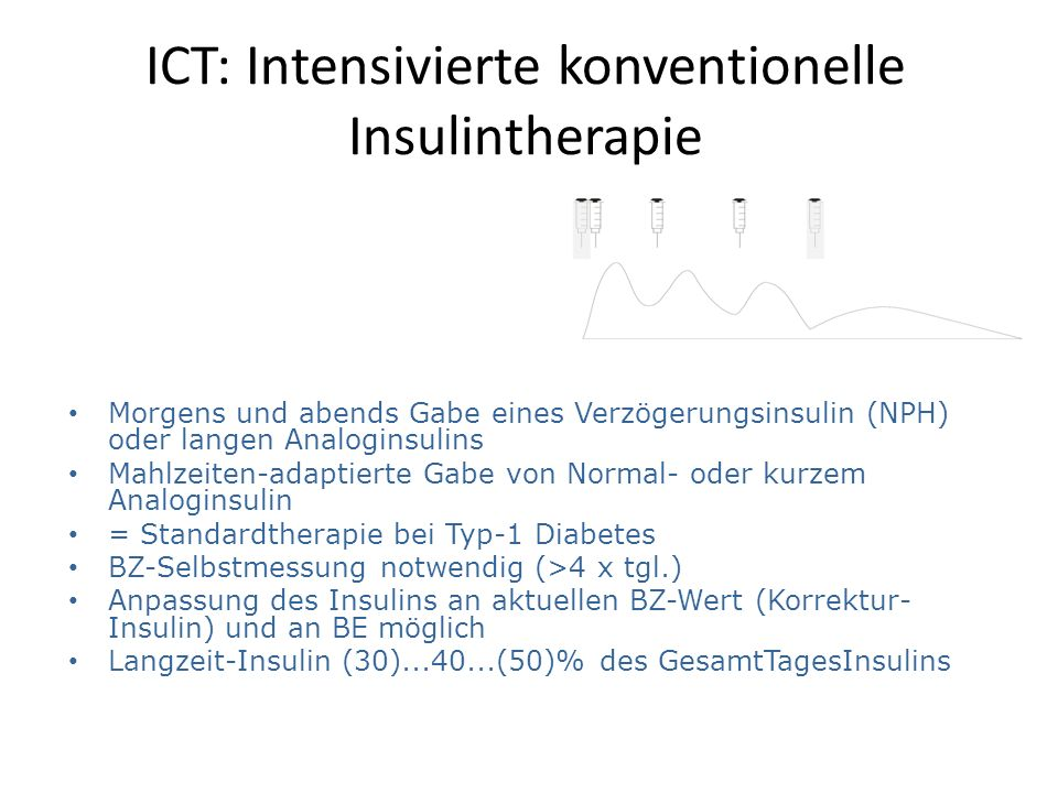 ICT: Intensivierte konventionelle Insulintherapie
