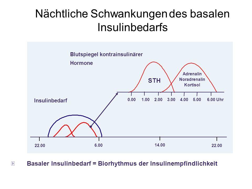 Nächtliche Schwankungen des basalen Insulinbedarfs