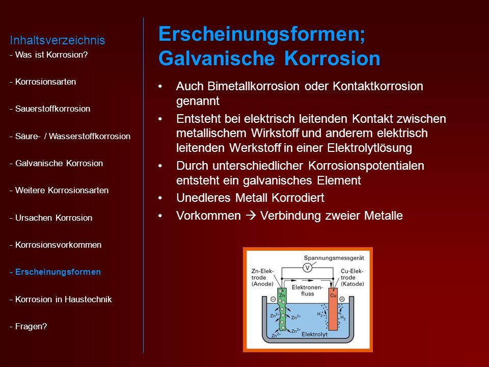 Erscheinungsformen; Galvanische Korrosion