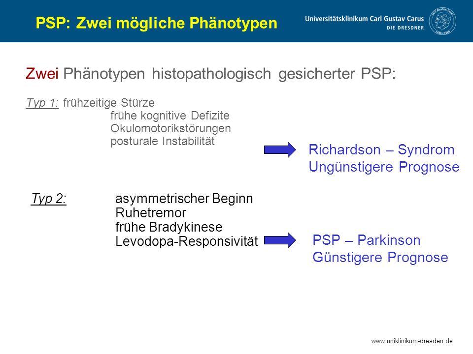 PSP: Zwei mögliche Phänotypen