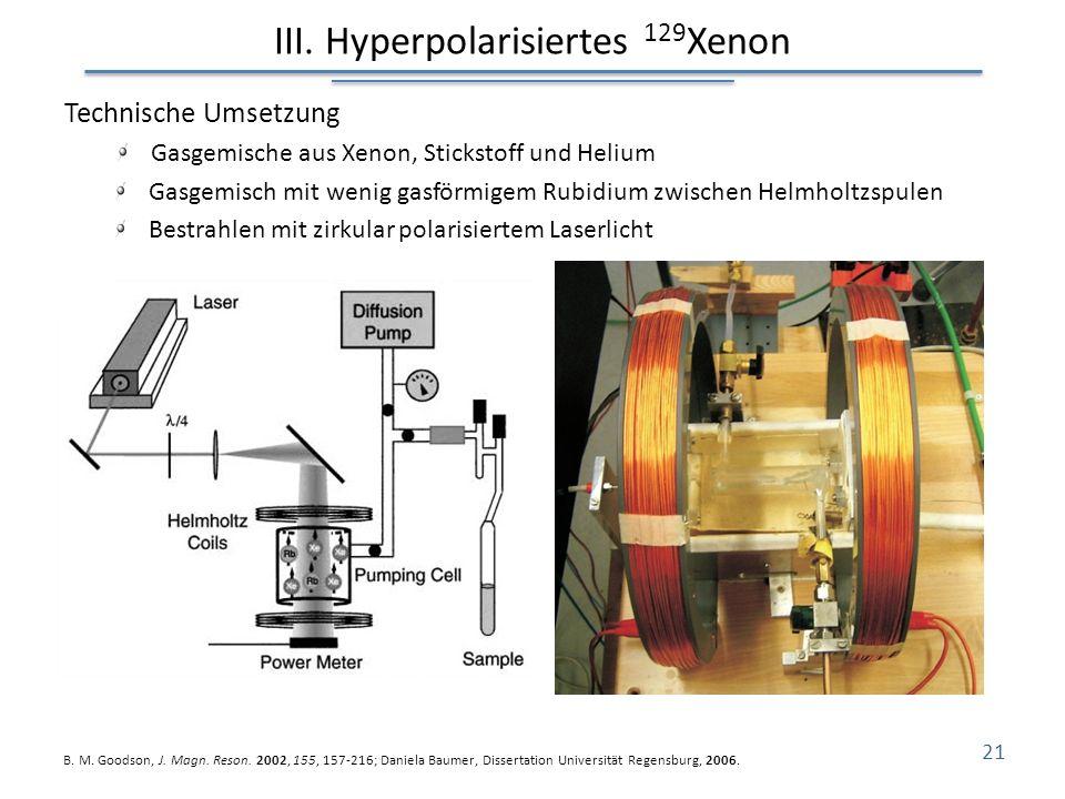 III. Hyperpolarisiertes 129Xenon