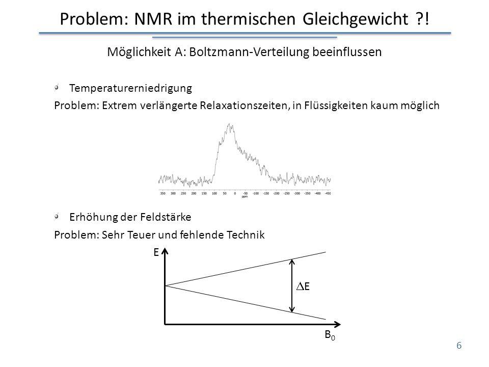 Problem: NMR im thermischen Gleichgewicht !