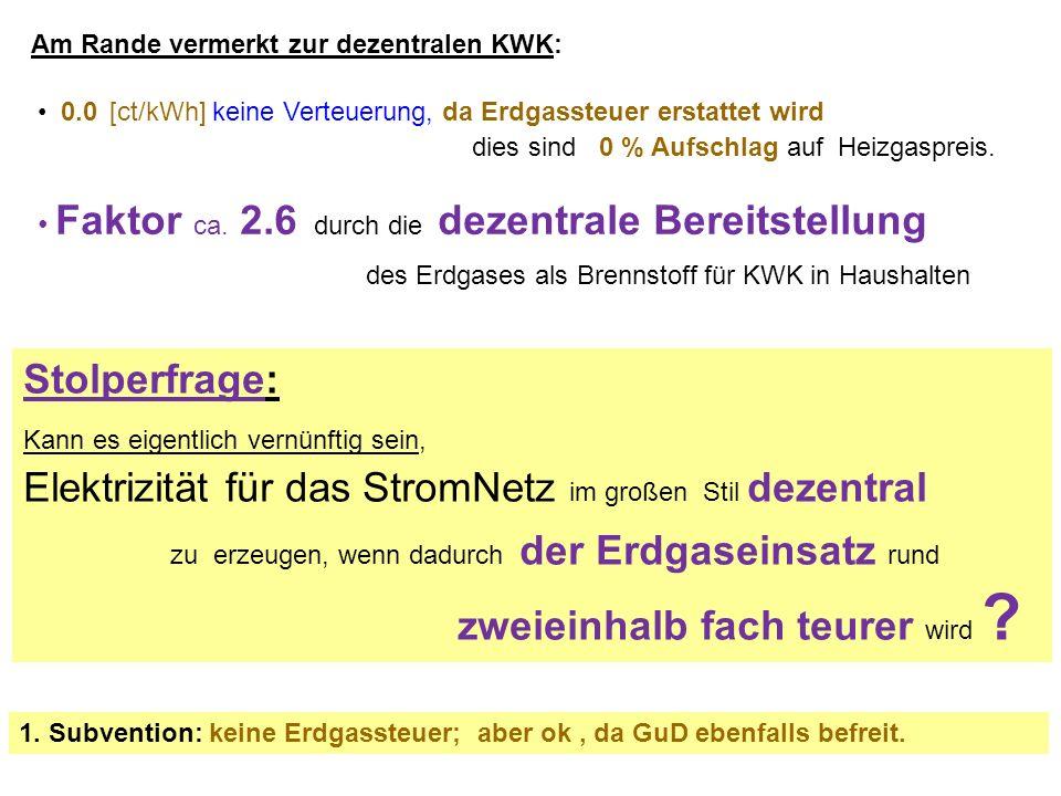 Am Rande vermerkt zur dezentralen KWK: