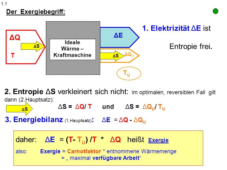 3. Energiebilanz (1.Hauptsatz): ΔE = ΔQ - ΔQU