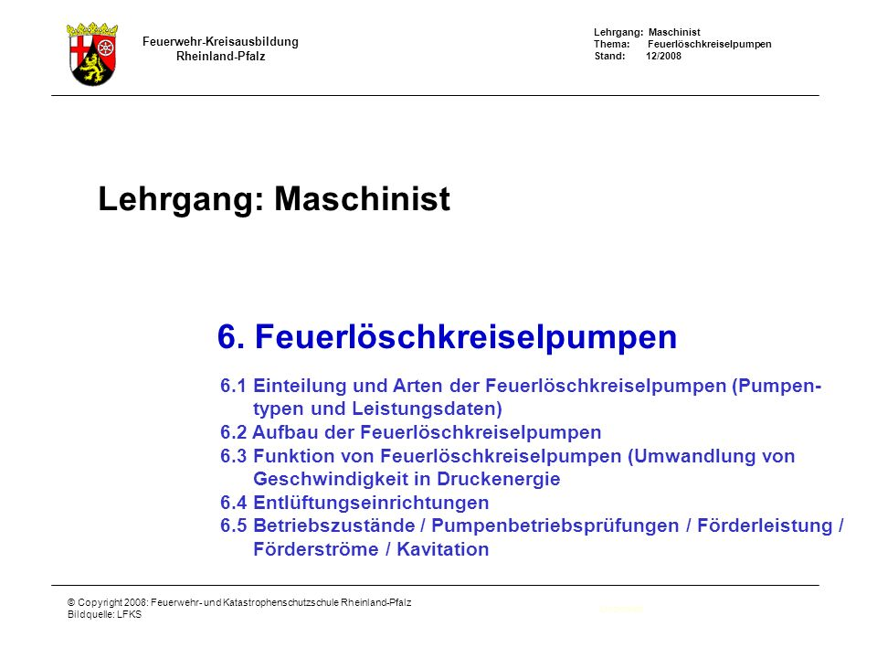 6. Feuerlöschkreiselpumpen