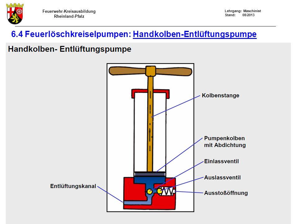6.4 Feuerlöschkreiselpumpen: Handkolben-Entlüftungspumpe