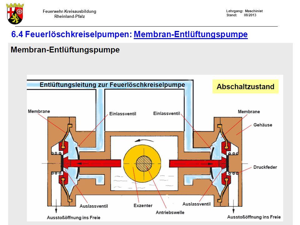 6.4 Feuerlöschkreiselpumpen: Membran-Entlüftungspumpe