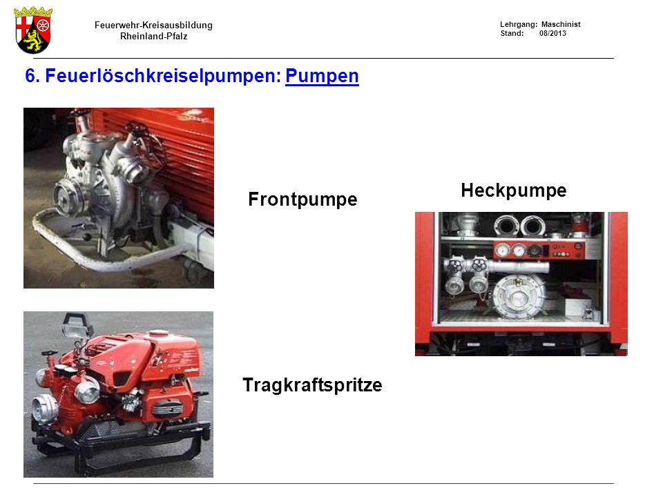 6. Feuerlöschkreiselpumpen: Pumpen
