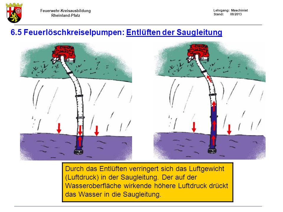 6.5 Feuerlöschkreiselpumpen: Entlüften der Saugleitung